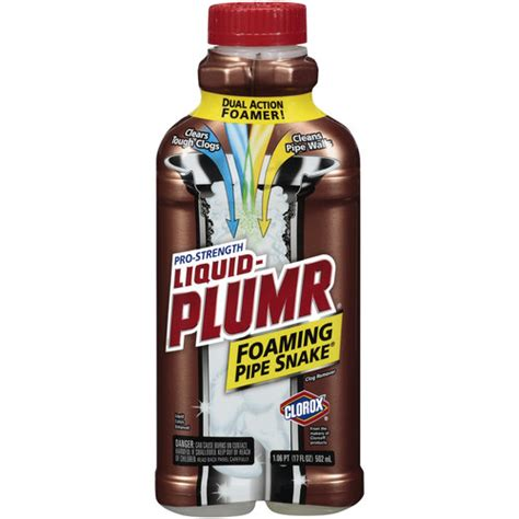 Liquid Plumbing by Product Review Liquid Plumber Foaming Pipe Snake