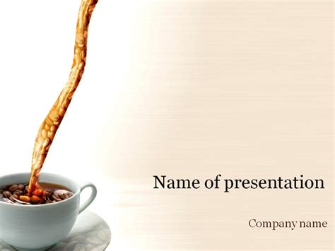 Coffee Cup Powerpoint Template Background For Presentation Coffee Powerpoint Template