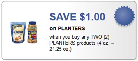 Planter Peanuts Coupons by New 1 2 Planters Coupon To Print