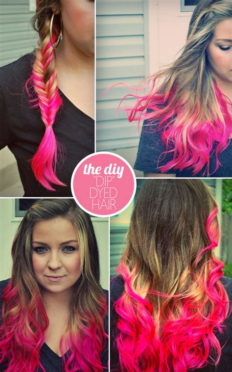 Types Of Dye For Hair by Pink Dip Dyed Hair Color
