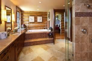 koselig hus log cabin master bathroom teton heritage