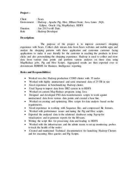 hadoop developer resume hadoop developer resume jobsxs