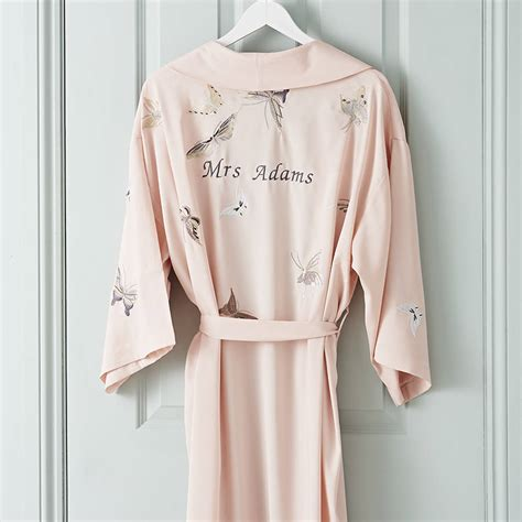 Wedding Dressing Gowns bridal wedding dressing gown kimono personalised by
