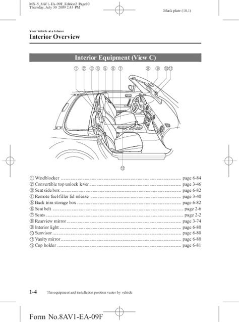 manual repair free 2010 mazda mx 5 instrument cluster 2010 mazda mx 5 miata owners manual