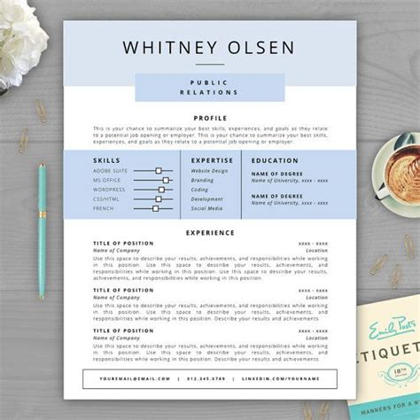 cv templates that stand out 9 best monogram resume templates images on