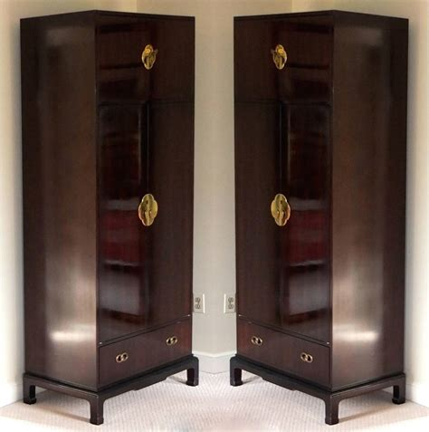 tall narrow armoire tall thin armoire pair of tall narrow armoires by henredon at 1stdibs