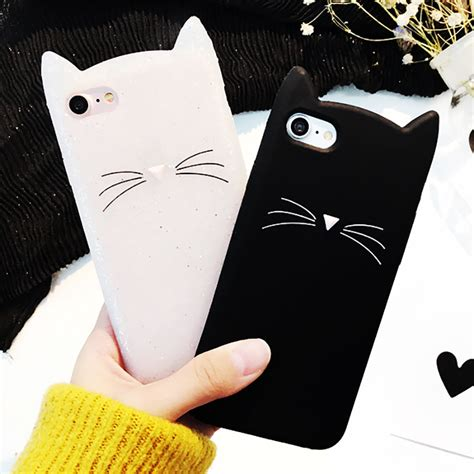 3d Cat For Samsung Galaxy J1 2015 J5 2015 for samsung galaxy a3 a5 j1 j2 j3 j5 j7 g360 g530 3d black beard cat ears animal