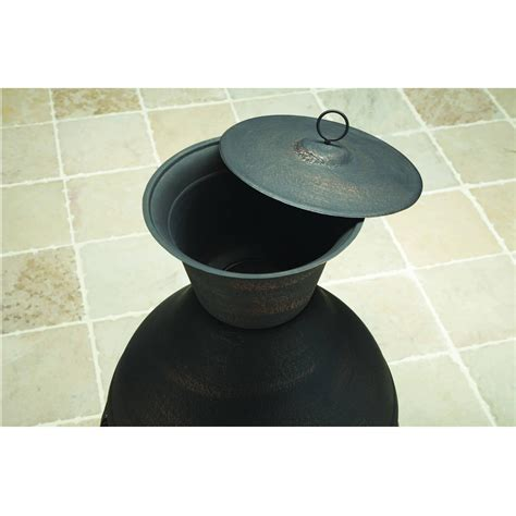 Better Homes Chiminea Cast Iron Chiminea Antique Bronze Outdoor Wood