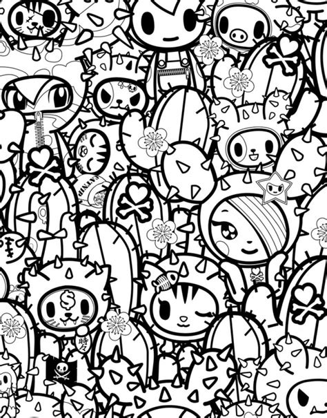 Tokidoki Special Edition Color Ink Book Drop Coloring Page