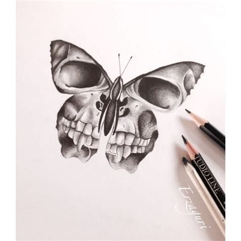 skull and butterfly tattoo skull butterfly pencil and in color skull