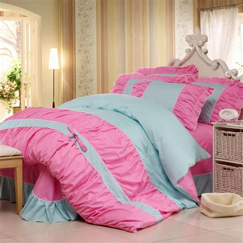 korean bedding sweet princess pattern 100 cotton bedding 4pcs korean