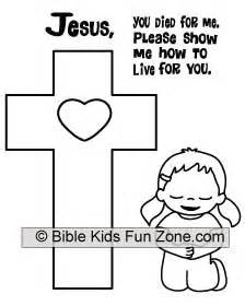 jesus died coloring page coloring sheet of a little girl kneeling at the cross