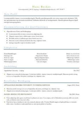 Lebenslauf Zweiseitig Beispiel lebenslauf muster und vorlagen f 252 r die perfekte bewerbung