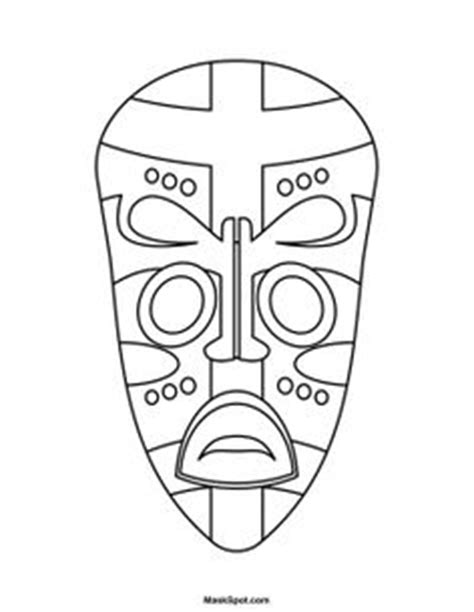 printable african mask template google image result for http www artyfactory com
