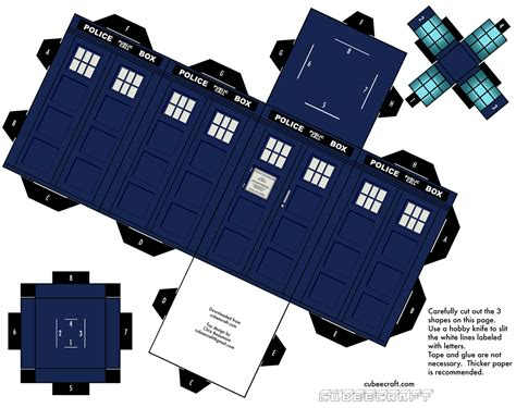 Tardis Papercraft - build your own tardis tv shows spiceworks