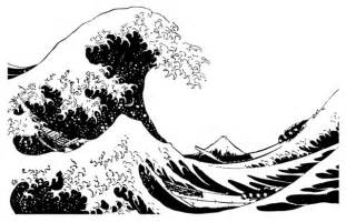 Japanese great wave hokusai wall decal contemporary wall decals
