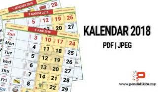 Malaysia Kalendar 2018 Kalendar Kuda 2018 Berserta Cuti Sekolah Pendidik2u