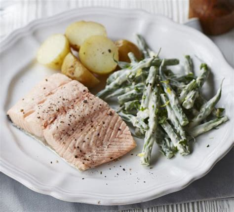 poached salmon recipes poached salmon with tarragon recipe bbc good food