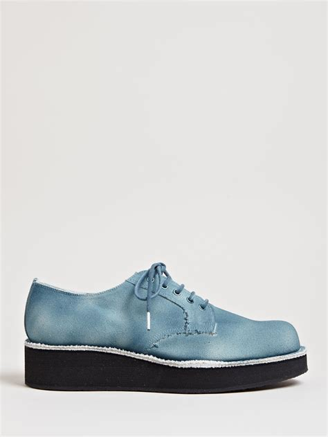 platform shoes for yohji yamamoto mens canvas platform shoes in for blue