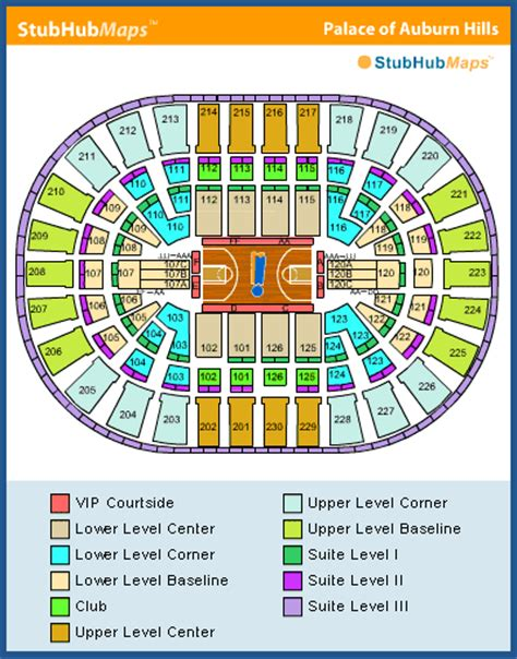 detroit pistons seating plan the palace of auburn seating chart pictures