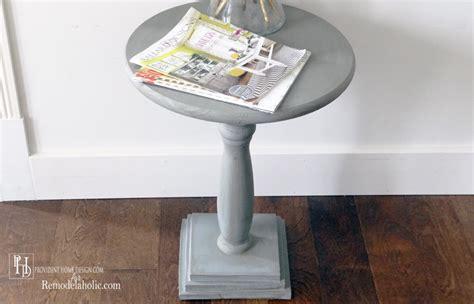 remodelaholic diy pedestal accent table