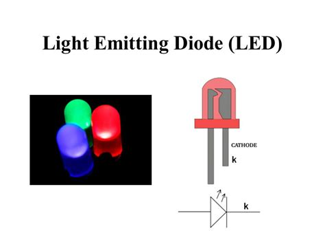 light emitting diode working ppt diodes transistors and ppt