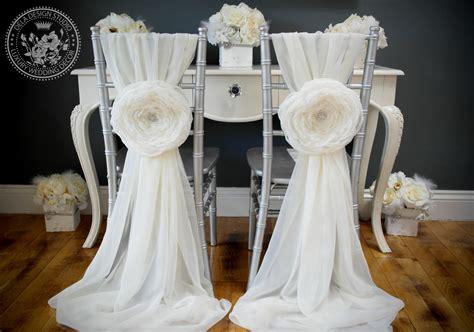 vintage glam white chiffon chair covers  receptiondiy weddingbee photo gallery