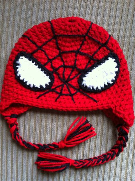 crochet pattern for spiderman eyes spiderman hats tag hats