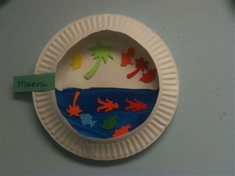 Paper Fish Bowl Craft - paper plate fish bowls 2 yr crafts sea