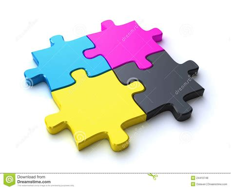 cmyk puzzle cmyk puzzle royalty free stock photos image 24410748