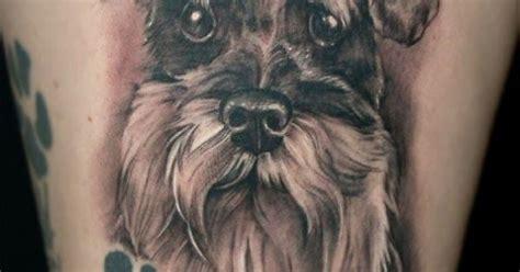 edmonton dog tattoo would you get a schnauzer tattoo like this miniature