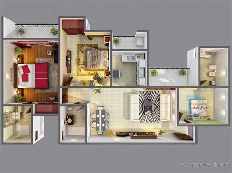 create a 3d floor plan for free morpheus green sector 78 noida residential project