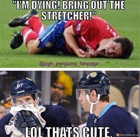 Sports Injury Meme - hockey toughness meme
