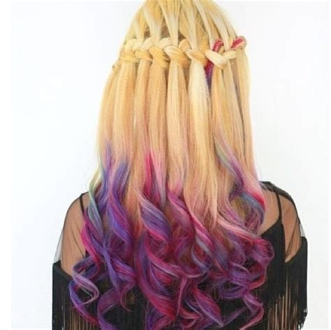 dip dye braids waterfall braid and dip dye hair from the awesome place