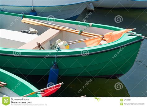 small fishing boat equipment green small fishing boat dinghy stock photo image 57159064