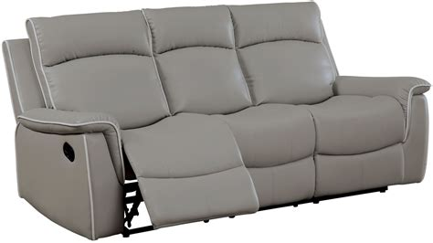 gray recliner sofa salome light gray recliner sofa from furniture of america