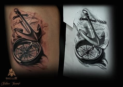 tattoo compass 3d 3d compass tattoo elaxsir