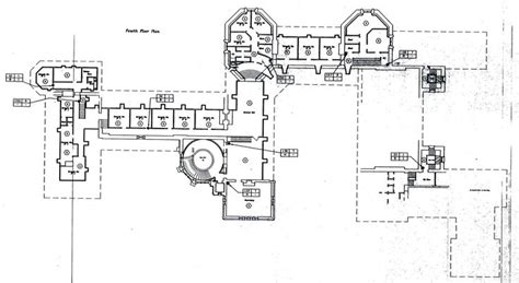 biltmore estate floor plans biltmore fourth floor plan with lights labeled gilded era mansion floor plans pinterest