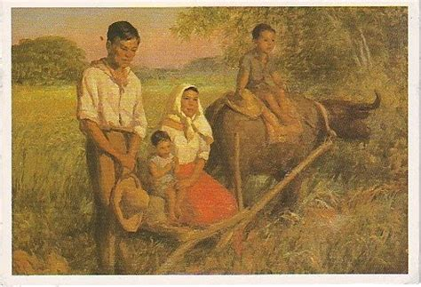 The World Thru Postcards Angelus Oracion By Amorsolo