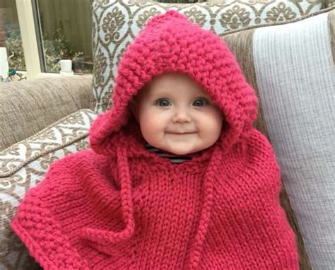 free pattern hooded cape knitted hooded baby poncho pattern free tutorials the whoot