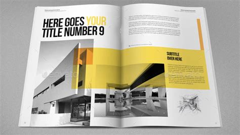 architectural design magazine 19 minimal indesign magazine templates architecture