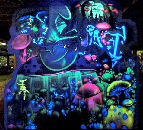 glow in the wall murals keep it flowing glow in the murals