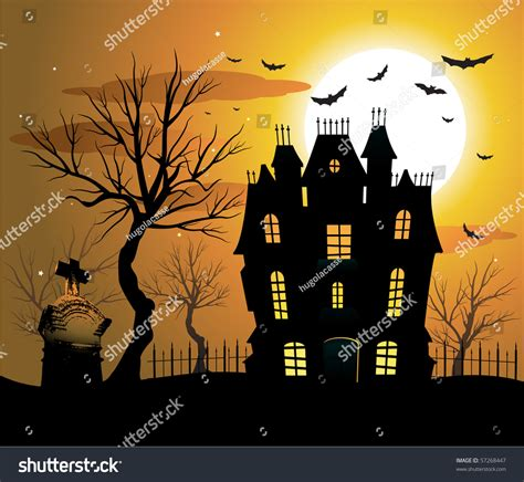 haunted house background music haunted house halloween background stock vector 57268447