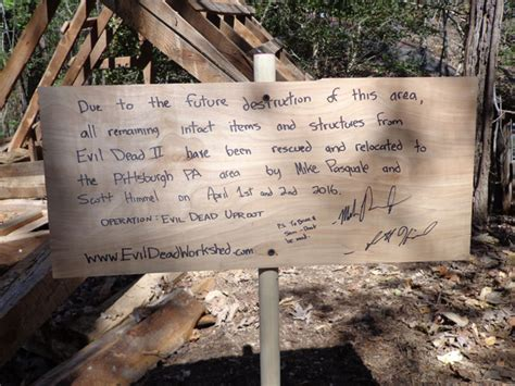 original evil dead film location own a piece of the cabin from evil dead 2