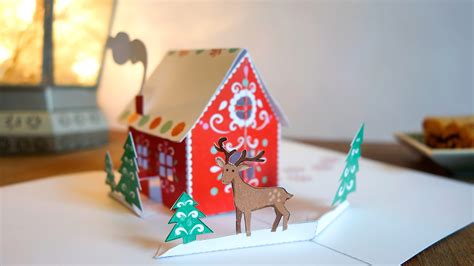 gingerbread house pop up card template how to make a pop up card gingerbread house