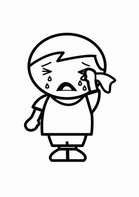 imagenes de la tristeza para colorear dibujo para colorear triste img 24804