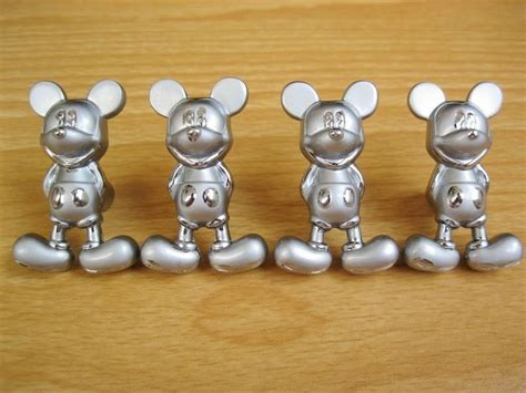 4 metal cabinet door knobs mickey mouse drawer pulls