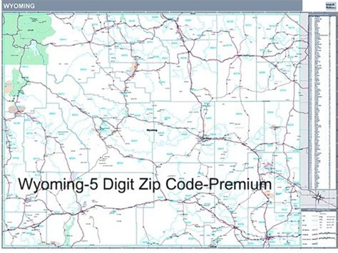 zip code map wyoming wyoming zip code map with wooden rails from onlyglobes com