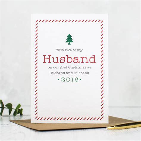 printable christmas cards for husband first christmas as husband and wife christmas card by