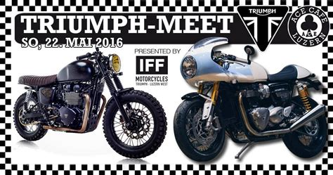 Triumph Motorrad Luzern by Triumph Meet At Ace Cafe Luzern Triumph Motorcycles